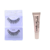 12 Pairs Creme 100% Human Hair Natural False Eyelash Extensions Black #505 Natural Long Lashes by Creme Eyelash