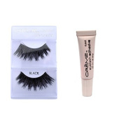 12 Pairs Creme 100% Human Hair Natural False Eyelash Extensions Black #40 Dark Full Lashes by Creme Eyelash