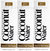 3 x 100ml XBC Revitalising Coconut Water Hydrating Hand & Nail Cream