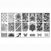 Ularmo Stylish Nail Stamping Printing Plate Manicure Image Stamps Plate