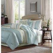 Madison Park Chester Green/Blue 7-piece Comforter Set