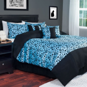 Windsor Home Floral Demask Sky Blue 7-piece Comforter Set