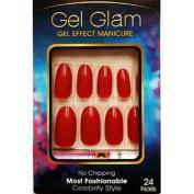 Gold Finger Gel Glam 24 Nails GFC05 RED