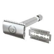 Apollo Safety Razor & 1 Merkur Platinum Coated Double Edge Blade Will Fit In Your Safety Razor Stand / Kit / Set / 4 Inc