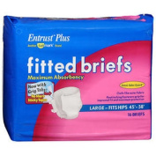 Sunmark Fitted Briefs Maximum Absorbency Large - 4 pks of 16 ct