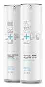 Daily Defence Complex/Recovery Night Moisture Serum by Lifeline Skin Care, 2-Pack, 30ml each