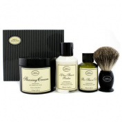 The 4 Elements Of The Perfect Shave - Unscented (New Packaging) (Pre Shave Oil + Shave Crm + A/S Balm + Brush) 4pcs