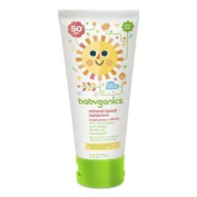 BabyGanics Cover up Baby Sunscreen for Face & Body SPF 50+, Fragrance Free, 180ml