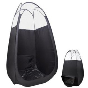 Black Pop Up Airbrush Sunless Spray Tanning Tent Booth W/ Ducting For Fan/Filter