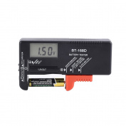Mudder Digital Battery Tester Volt Checker for AA AAA C D 9V 1.5V Button Coin Cell-BT-168D