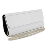 Mad Style Acrylic Elongated Clutch, White