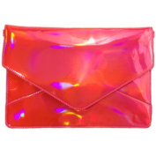 Holo Gorgeous Pink Holographic Envelope Crossbody