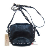 Women's Purse Cross Body Jet Black with Camo and Chains $38