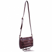 Minna 11182 croco embossed faux leather crossbody bag