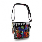 Laurel Burch Blossoming Feline Colourful Cross Body Bag Purse