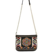 Western Handbag Womens Messenger Floral Black N7564001
