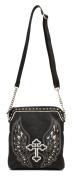 Western Handbag Womens Crossbody Wings Black N7558201