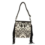 Western Handbag Women Messenger Aztec Black White N7580862