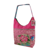 Kate McRostie Palm Beach Preppy Pink Medium Hobo Handbag
