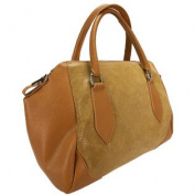 H & S Collection 5198-56 CU SASHA Tan Structured Sacthel/ Shoulder Bag