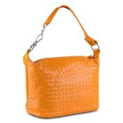 Mad Style Patent Weave Satchel, Orange
