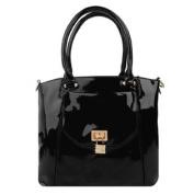Bisou Locket Patent Leather Woman's Handbag /w Shoulder Strap