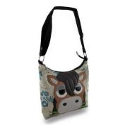 Sleepyville Critters Horse Floral Canvas Shoulder Bag