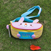 [Like Rabbit] Embroidered Applique Kids Fanny Waist Pack / Travel Lumbar Pack
