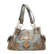 Western Handbag Womens Satchel Cross Star Blue N7516027