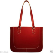 Half Moon Collection 3929 East West Business Tote Red Leather