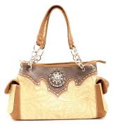 Western Handbag Womens Satchel Embossed Tan N7552208