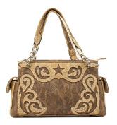 Western Handbag Womens Satchel Snake Scroll Brown N7562002