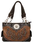 Western Handbag Womens Satchel Rhinestones Tan N7554708