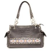 Western Handbag Womens Satchel Beaded Black N7551601