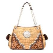 Western Handbag Womens Satchel Conchos Tan N7552608