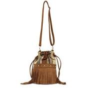 Western Handbag Womens Bucket Fabric Fringe Brown N7585697
