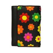 Visconti Paris DS-81 Womens Floral Multi Coloured Trifold Wallet/ Purse