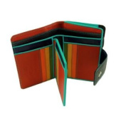 Visconti SP30 Bifold Womens Black Multi Coloured Soft Leather Wallet Case