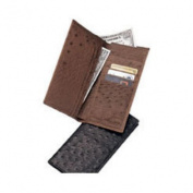 Budd Leather US98-1 Genuine Ostrich Slim Secretary Black