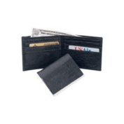 Budd Leather US97PC-3 Genuine Ostrich Passcase Wallet Tan