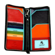 Visconti SP28 Multi Coloured Soft Leather Travel Wallet
