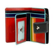 Visconti SP31 Soft Leather Multi Coloured Bifold Wallet [Black]