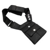 Napa Leather Black Shoulder Holster Travel Wallet