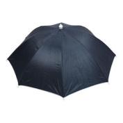 Outdoor Fishing Tool Elastic Headband Foldable Umbrella Hat 70cm Dia Dark Blue