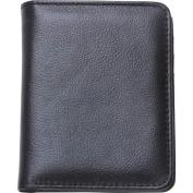 Embassy Men's Solid Genuine Buffalo Leather Slim Bi-Fold Wallet