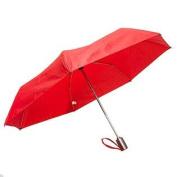 Totes Auto Open Auto Close Umbrella (Red w/ Grey Handle) 8905MRED