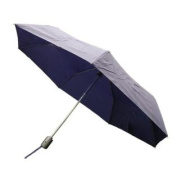 Totes Auto Open Auto Close Umbrella (Navy w/ Grey Handle) 8905MNAVY