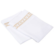 Embroidered Regal Lace Wrinkle Resistant Pillowcases