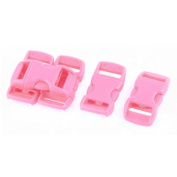 Luggage Boxes Backpack Side Quick Release Buckle Rose Pink 11mm Width Strap 5pcs
