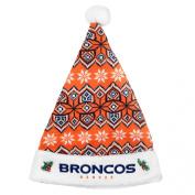 Denver Broncos Official NFL 43cm Knit Christmas Santa Hat by Forever Collectibles